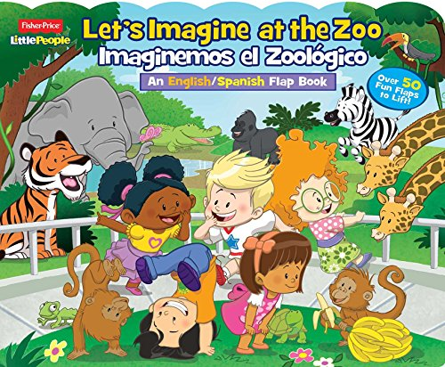 9780794435592: Fisher-Price Little People Let's Imagine at the Zoo / Imaginemos El Zoologico