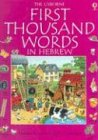 9780794500290: The Usborne First Thousand Words in Hebrew: With Easy Pronunciation Guide (Hebrew Edition)