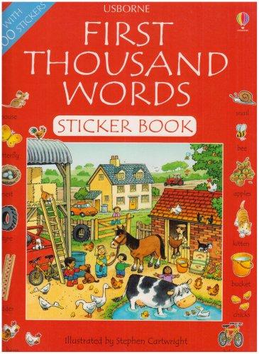 9780794504625: First Thousand Words Sticker Book English (First Thousand Words Sticker Books)