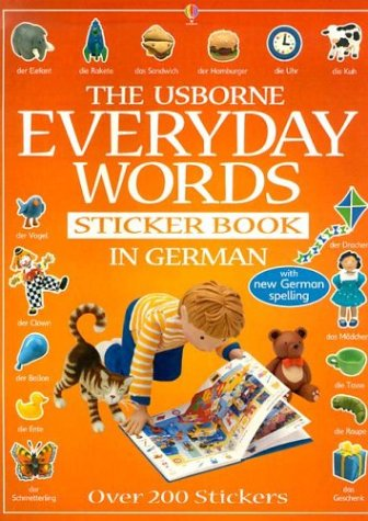 9780794504793: The Usborne Book of Everyday Words in German (Everyday Words Sticker Books) (Spanish Edition)