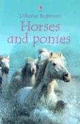 Horses and Ponies (Usborne Beginners): Milbourne, Anna