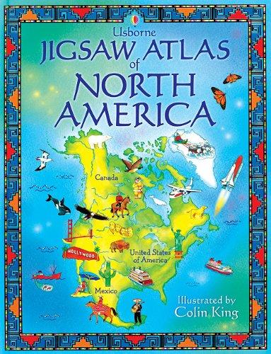 9780794512422: Jigsaw Atlas of North America (Luxury Jigsaw Books)