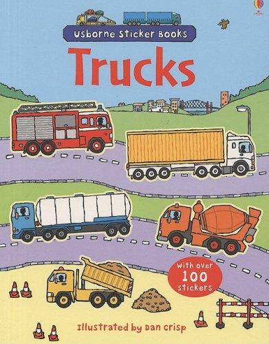 9780794521110: Trucks (Usborne Sticker Books)