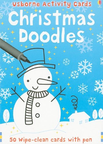 9780794524357: Christmas Doodles [With Pens/Pencils] (Usborne Activity Cards)