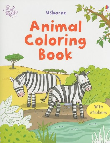 9780794525064: Animal Coloring Book (Sticker Coloring Books)