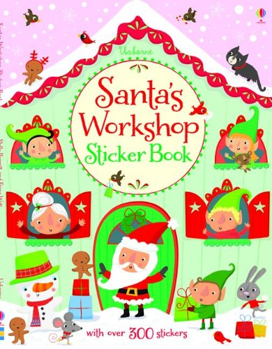 9780794525132: Santa's Workshop Sticker Book (Usborne Sticker Books)