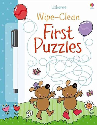 First Puzzles [With Wipe-Clean Pen] (Usborne Wipe-Clean): Greenwell, Jessica