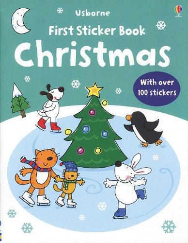 9780794526580: Usborne First Sticker Book Christmas (First Sticker Books)