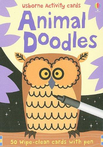 9780794527952: Animal Doodles [With Pens/Pencils] (Usborne Activity Cards)