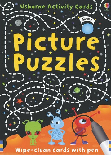 9780794529833: Picture Puzzles [With Marker] (Usborne Activity Cards)