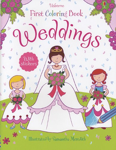 9780794531089: Weddings (Usborne First Coloring Books)