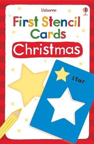 9780794531690: Usborne First Stencil Cards Christmas