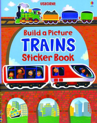 9780794532611: Trains: Build a Picture Sticker Book (Build a Picture Sticker Books)