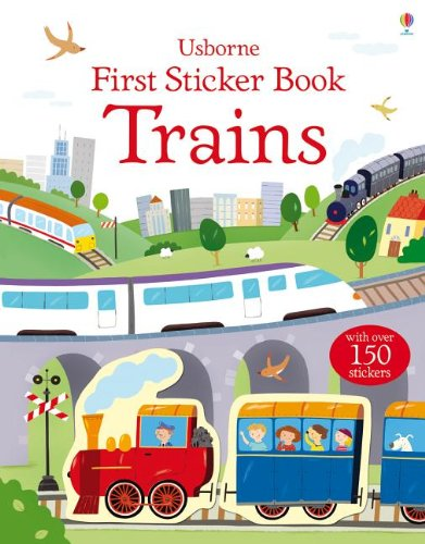 9780794533519: Trains (Usborne First Sticker Book)