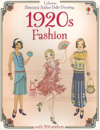 Historical Sticker Dolly Dressing 1920s Fashion IR: Emily Bone