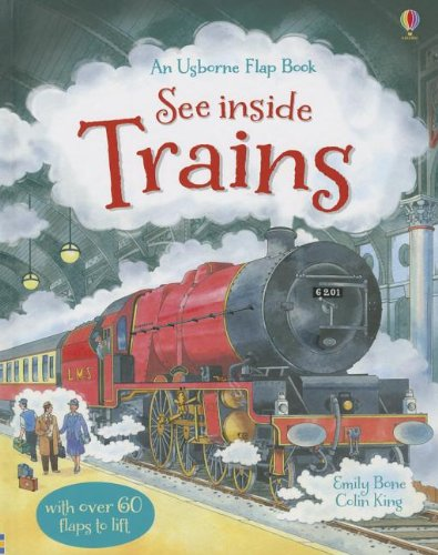 9780794533779: See Inside Trains (Usborne Flap Book)