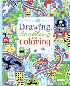 9780794534431: Usborne Blue Book of Drawing Doodling and Coloring by James MacLaine (2015-06-01)