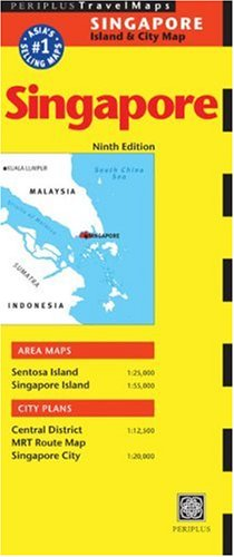 9780794605001: Singapore Travel Map (Periplus Travel Maps)