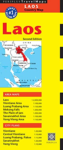9780794606114: Periplus Travel Maps Laos Country Map