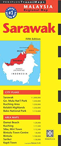 9780794606237: Sarawak Travel Map Fifth Edition (Periplus Travel Maps)