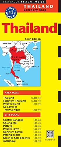Thailand Travel Map Sixth Edition