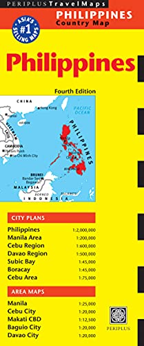 9780794606435: Philippines Country Map (Periplus Travel Maps)