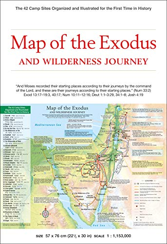 Map Of Exodus: The 42 Camp Sites Organized And Illustrated For The First Time In History