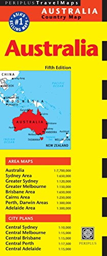 9780794606589: Australia Travel Map Fifth Edition (Periplus Travel Maps)