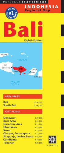 9780794607029: Periplus Travel Maps Bali: Indonesia Regional