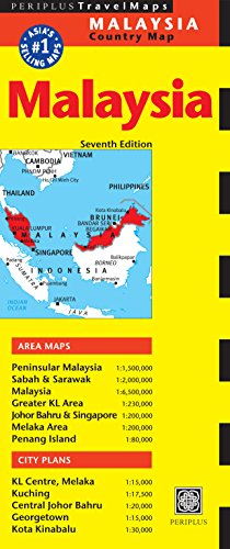 9780794607043: Malaysia Travel Map Seventh Edition (Periplus Travel Maps)