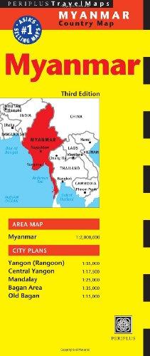 9780794607197: Myanmar Travel Map Third Edition (Periplus Travel Maps)