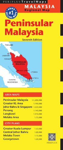 9780794607241: Peninsular Malaysia Travel Map Seventh Edition (Periplus Travel Maps)