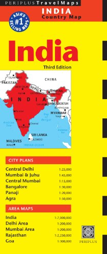9780794607265: India Travel Map Third Edition (Periplus Travel Maps Country Map)
