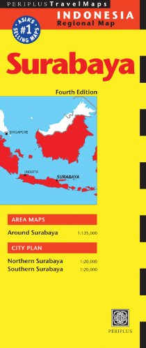 9780794607289: Surabaya Travel Map Fourth Edition (Periplus Travel Maps)