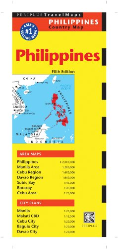 9780794607296: Philippines Travel Map Fifth Edition