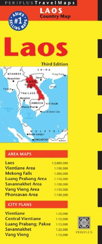 9780794607319: Periplus TravelMaps Laos: Country Map