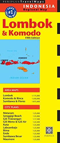 9780794607388: Lombok & Komodo Travel Map Fifth Edition (Periplus Travel Maps)