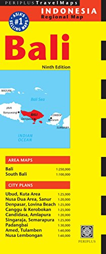 9780794607395: Periplus Travel Map Bali: Indonesia Regional Map