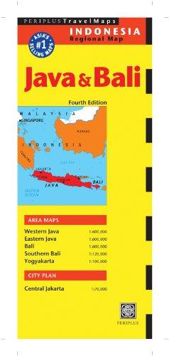 9780794607425: Java & Bali Travel Map Fourth Edition (Periplus Travel Maps)