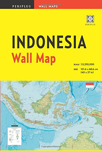 9780794607470: Indonesia Wall Map Third Edition (Periplus Wall Maps)