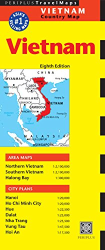 9780794607494: Vietnam Travel Map Eighth Edition (Periplus Travel Maps Country Map)