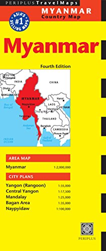 9780794607623: Periplus Travel Map Myanmar: Country Map