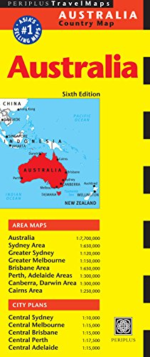 9780794607685: Australia Travel Map Sixth Edition (Periplus Travel Map)