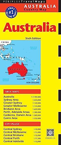 9780794607685: Australia Travel Map Sixth Edition (Periplus Travel Maps)