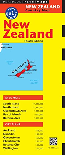 9780794607708: New Zealand Travel Map (Periplus Travel Map)