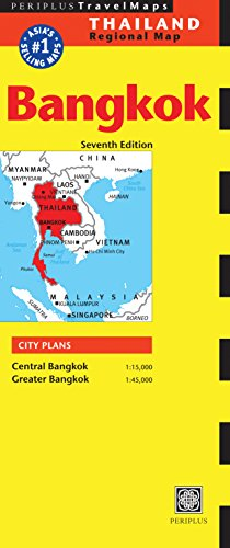 9780794607852: Bangkok Travel Map Seventh Edition (Periplus Map)