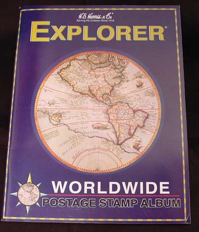 Explorer Postage Stamp Album for Beginners: HG. Harris &