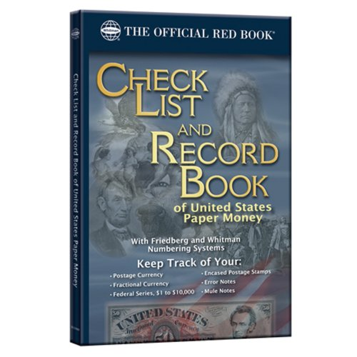 9780794828486: Check List and Record Book of United States Paper Money (Official Red Books)