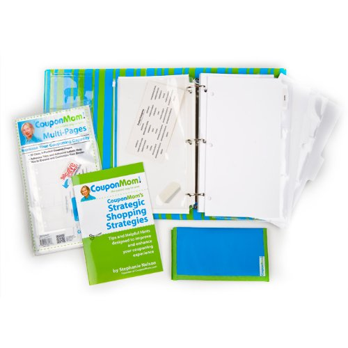 9780794836382: CouponMom Organizer: Striped Pattern [With 20 Clear Pocket Pages and Booklet and Accessory Bag, Take-A-Long, Tabs and Labels]