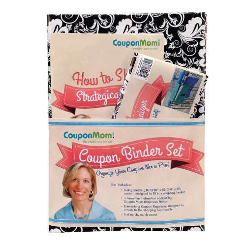 9780794840181: CouponMom.com Organizer Binder, Black and White Pattern Design [With 30 Clear Plastic Pocket Pages, Coupon Organizer and Booklet and Couponing Accesso